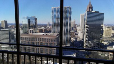 Downtown view from balcony on 23rd floor