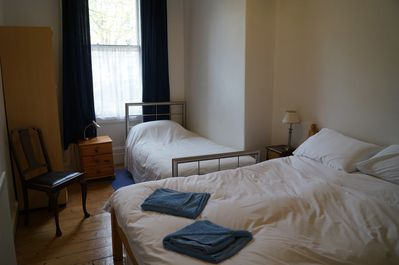 Front bedroom with double bed (single bed can be provided at a supplement).