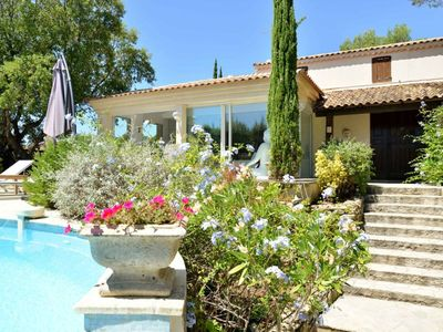 Photo for Large villa with infinity pool, surrounded by Mediterranean vegetation