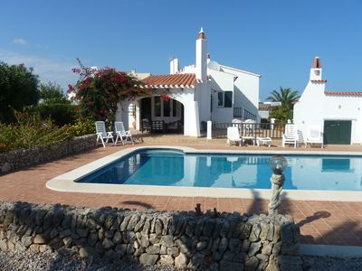 Photo for Villa For Rent In Menorca With Private Pool, Enclosed Garden & Air Conditioni