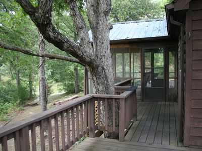 Calico Rock Cabin Rental   The Deck Goes Around 3 Sides Of The ...