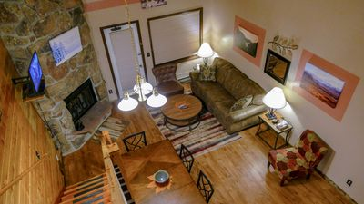 Photo for Quiet, Rustic, Cabin-in-the-Woods Feel with Mountain Lodge Amenities