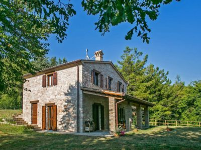 Photo for Private Villa with Pool, wi-fi, wide garden, Furlo Gorge, Marche - VILLA PETRA