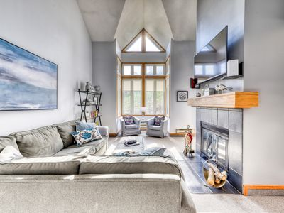 Photo for Dog-friendly, slopeside escape w/ a furnished balcony