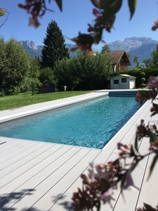 Photo for House with pool between lake and mountain