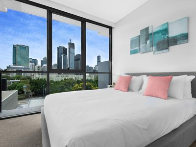 Photo for Luxe Apartment with Balcony and Pool Near Galleries