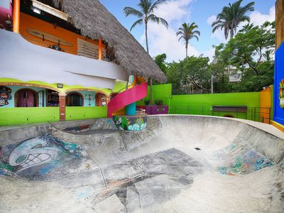 Photo for Casa Surf & Skate only house in town with its own Skate bowl!
