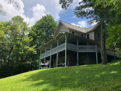 Photo for Peaceful 5 bedroom river/mountain house on 13 acres close to Blue Ridge Parkway