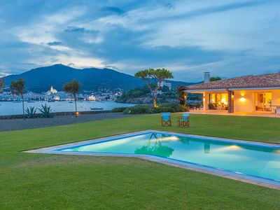 Photo for Amazing seafront villa, huge garden an pool, views of Cadaqués bay