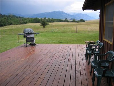 Deck and mountain view