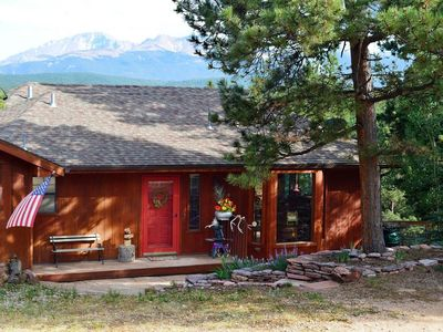 Photo for Pet Friendly Mountain Escape with Breathtaking Views of Pikes Peak