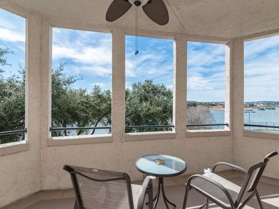Photo for Lake Travis Views from Wrap-Around Patio! Gated Community w/Pools, Spa & Tennis Courts, Free WiFi!