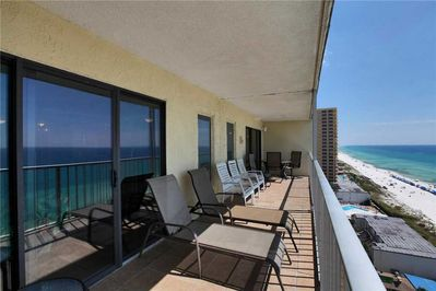 Visit the beautiful balcony for a breath of fresh Florida air. - The beautiful balcony, complete with beachfront views, is an all-time favorite!