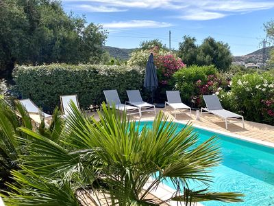 Photo for villa with swimming pool and enclosed garden - near beaches - Monticello - Haute Corse