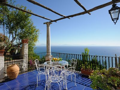 Photo for Very nice house with a terrace overlooking the sea just 4 km from Amalfi