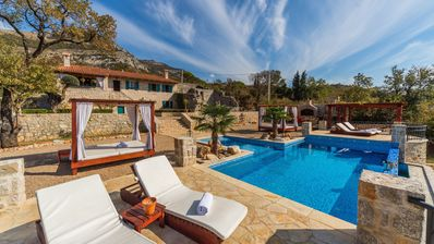 Photo for Seafront Stone Villa With Private Infinity Swimming Pool And Big Garden