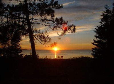 Typical Sunset view from Mackinaw Cottage