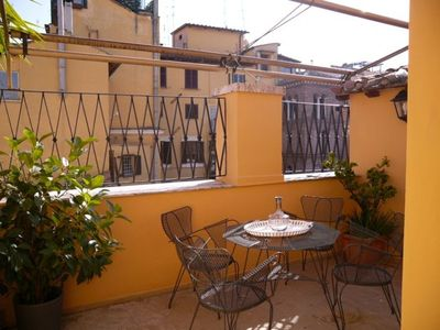 Photo for Terrazza Coppelle, romantic nest characterized by a delightful little terrace, close to the Pantheon