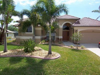 Photo for Villa Aurora SE Cape Coral Intersection Fresh Water Canal Luxury Pool Home