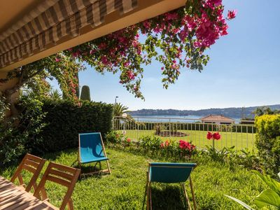 Photo for 2 BDR Villefranche-sur-Mer, Sea View, Parking and Swimming Pool