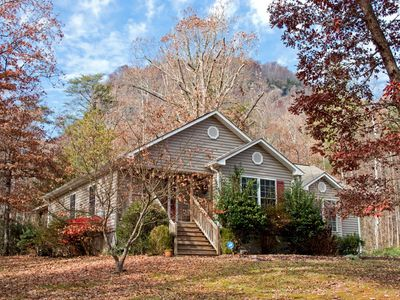 Photo for Lake Lure Hide-A-Way lovely, Chimney Rock, hot tub, gas grill, close to Lake Lure and Chimney Rock Village, Tryon Equesterian Center, 45 min. to Asheville, perfect mountain getaway with family or friends.