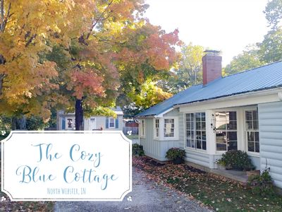 Photo for The Cozy Blue Cottage - Only 400 ft from Lake Webster