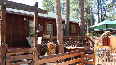 Photo for It's Simply Irresistible!!  Newly renovated romantic rustic cabin for 2 with spa