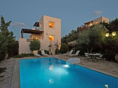 Photo for This 3-bedroom villa for up to 6 guests is located in Kalamaki (Crete) and has a private swimming po