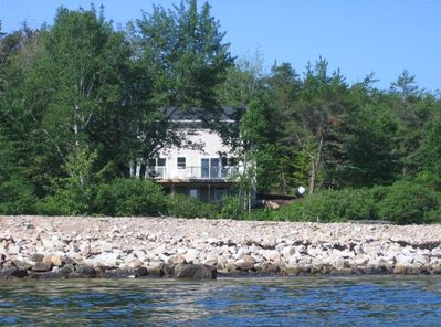 The view of the house from the water