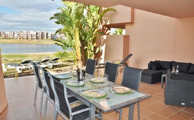 Photo for Stunning Large 2 Bed + 2 Bath Apartment On The Ground Floor With 60m Terrace