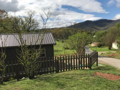Photo for Adorable Cabin with big mountain views. 12 Minutes to DT Asheville