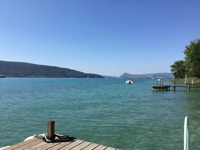 Photo for Rare, house feet in the water on the banks of Lake Annecy Veyrier du Lac