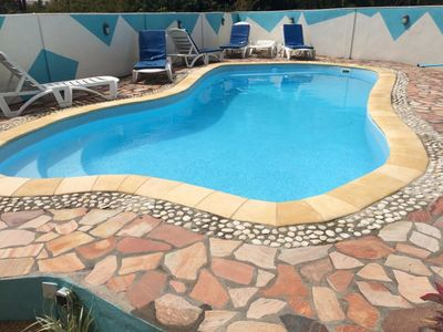 Photo for Private Premium Villa 4 mn walk from the beach with very big pool
