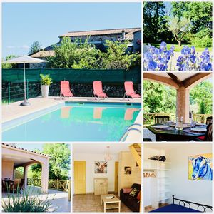 Photo for Gîte Le Mûrier, quiet in southern Ardèche, with swimming pool and WIFI