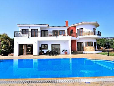 Photo for Pegeia Holiday Home, Sleeps 10 with Pool, Air Con and WiFi