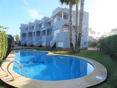 Photo for Modern and cheerful holiday home  with communal pool in Oliva, on the Costa Blanca, Spain for 6 persons