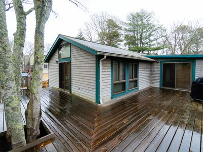 Photo for Tranquil, quiet home w/ private deck - walk to beaches and downtown Oak Bluffs!