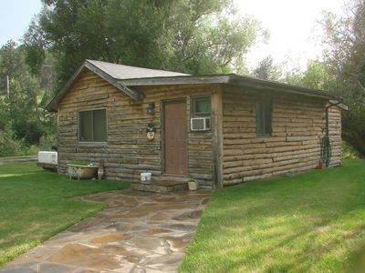 Photo for A Rustic/modern cabin by the creek a big front yard and lots of Wildlife abound