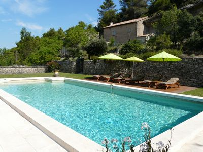 Photo for Superb Provencal farmhouse with magnificent view in Lacoste in the Parc du Lubéron