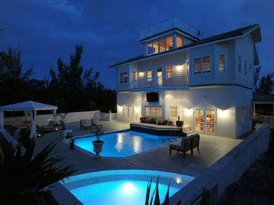 Photo for Contemporary Beach House, Heated Pool, Hot Tub, Home Theater, Secluded Beach