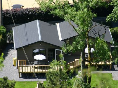 Photo for A cosy independent chalet near the Ourthe river and Durbuy, all fees included!