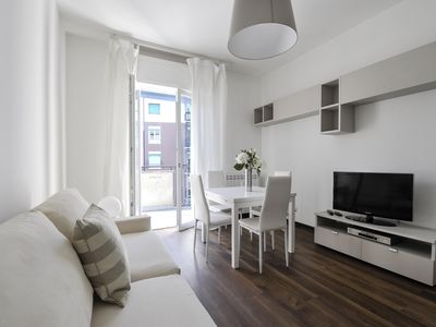 Photo for Bright two bedroom apartment in a very quiet and green neighborhood in Milan