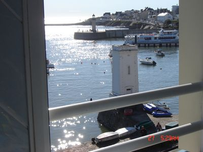 Photo for studio 3rd floor elevator beautiful view of the harbor entrance and Atlantic Ocean
