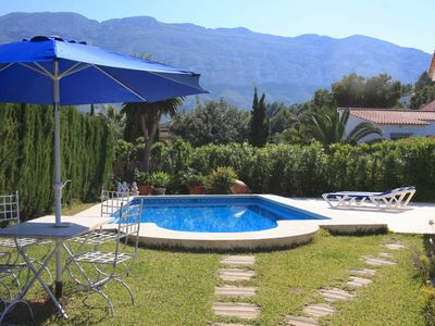 """Photo for VILLA BONITA 6 at the foot of the Montgó, 2km from the beaches, sleeps 6 <a href=""""http://www.costablancarent."""