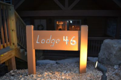 Look for Lodge 46 on Baldknobber Road!