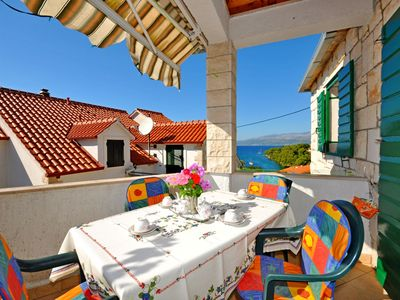 Photo for Apartments Katija (31941-A1) - Splitska - island Brac