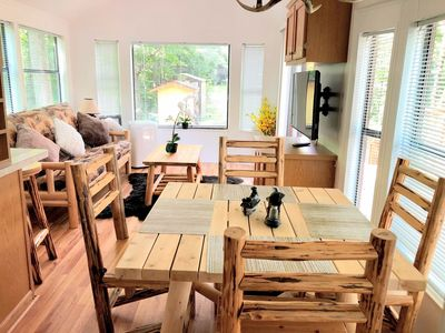Photo for BEAR WITH US RETREATS NEW MODERN AND SECLUDED CABIN / 1BED 1 BATH / TV, AC / HEATING