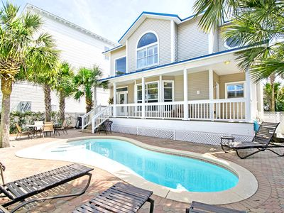 Photo for 5BR w/PRIVATE Pool- Across from Beach!☀2 Step Sanitizing Process☀Ocean Breezes