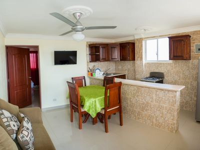 Photo for 1 Bedroom Apartment 1 Double 1 Single Bed- Premium Wi-Fi- Smart TV- Balcony- gated Parking - Tropical Island Aparthotel - 1 Bedroom Apartment, 1 Double 1 Single Bed