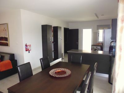 large open plan kitchen, lounge , dining area
